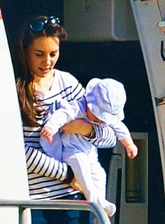 Prince George Takes His First Family Vacation — See the Exclusive Pictures! ......Kate & George in Mustique...Posted 2-4-14