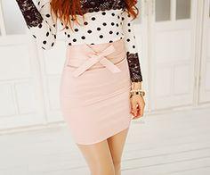 bow skirt style