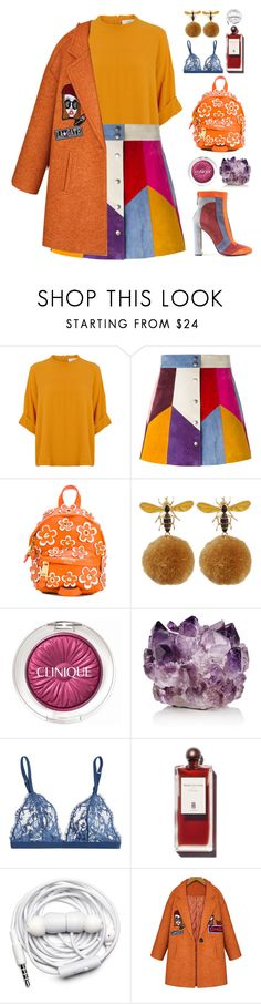 """Circus Top"" by finding-0riginality ❤ liked on Polyvore featuring Marc Jacobs, Moschino, Clinique, McCoy Design, La Perla and Urbanears"