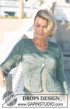 """DROPS Vest en Top met ajourmotief van """"Cotton-Viscose"""" en """"Safran"""". DROPS shawl met ajourmotief van """"Vienna"""" ~ DROPS Design"""