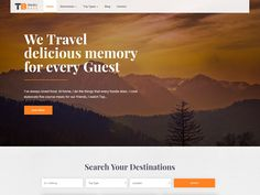 Travel Base – Theme Free WordPress Five Course Meal, Themes Free, Wordpress Template, Love Food, Base, Travel, Viajes, Destinations, Traveling