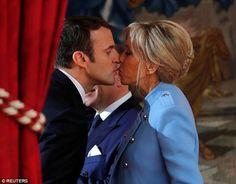 Brigitte et Emmanuel Macron échangent un baiser qui fait parler ! #Peopolitique