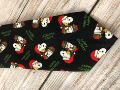 Snoopy Peanuts NeckTie Happy Holidays Christmas Neck tie Novelty charles Schultz #Snoopy #NeckTie