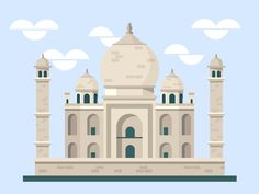 We are presenting some lovely graphic work created by Chicago based illustration designer Scott Tusk. As part of his 365 daily challenge, he created graphic for some historic places from all over the world including Taj Mahal and Aya Sofia. Daily Challenges, Art Background, Landscape Art, The Good Place, Taj Mahal, Public, Building, Inspiration, Islamic