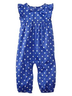 Gap | Paddington Bear for babyGap polka dot one-piece - such a cute baby girl outfit