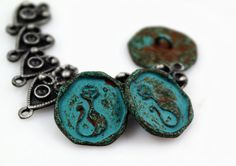 Hey, I found this really awesome Etsy listing at https://www.etsy.com/listing/197501721/metal-buttons-green-rust-cat-queen-metal