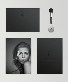 Tanay Gorg stationary design. love the matte black with the word mark being a patent black. truly a beautiful design and works well for the makeup artist #stationary