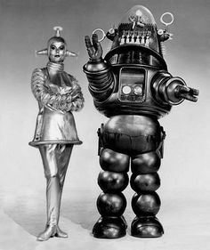 Verda and Robby the Robot from Lost in Space