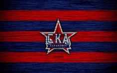 Download wallpapers FC SKA Khabarovsk, 4k, wooden texture, Russian Premier League, soccer, football club, Russia, SKA Khabarovsk, logo, art, football, SKA Khabarovsk FC