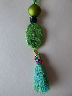 Green Hope necklace Made in FRANCE by LesArtsdeSylvie on Etsy