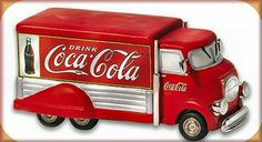 """Coca-Cola Truck, Vintage"" Dept. 56 Christmas In The City Item #59428. Introduced 2004 and retired 2007. Size: 5 x 1.75 x 2.5""."
