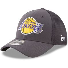321d1455f ... low price los angeles lakers new era on court 39thirty flex hat  graphite 31.99 lakers 7054c