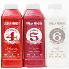 Juice Cleanses by Urban Remedy...thinking about trying the Purifying one...you drink these 6 drinks per day (I am looking at doing 3 days.)