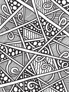 abstract doodles print to color - Pictures To Print And Colour In