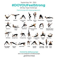 To get back into the Groove and conquer this heatwave Im embarking on the Yoga challenge! 30 Day Yoga Challenge, September Challenge, Yoga Chart, Yoga Nantes, Dolphin Pose, Yoga Lyon, Boat Pose