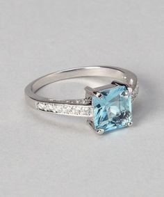 Take a look at this Rhodium & Sterling Silver Princess Isabella Ring by ICON on #zulily today!