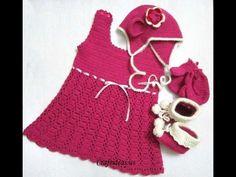 Crochet cute baby dress - YouTube