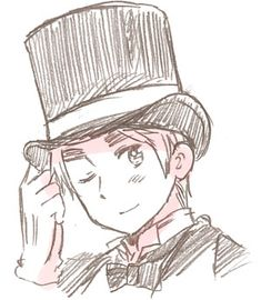 APH England in a Victorian top hat. Think this is official art...