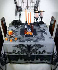 Take a look at this Vintage Bat Table Cloth today!