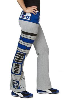 R2-D2 Ladies Yoga Pants. These would make great pajama pants.