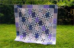 """My """"Night of the Twister"""" quilt for our youngest daughter."""
