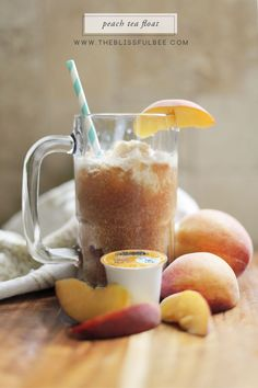 Easy Peach Tea Float