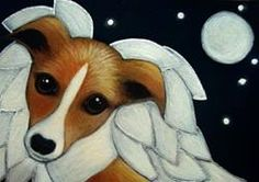 Art: LOVELY GREYHOUND ANGEL DOG IN HEAVEN by Artist Cyra R. Cancel