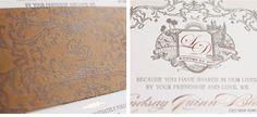 Luxury Wedding Invitations by Ceci New York - Travel-Inspired Wedding at Rancho Dos Pueblos #travel #inspired #wedding #invitation #luxury #couture #ceci #new #york #rustic #wood #bellyband #globes #crest #pink #chocolate #custom #design #custom