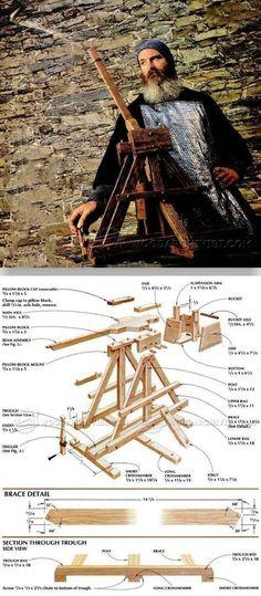 Toy Trebuchet Plans - Children's Wooden Toy Plans and Projects | WoodArchivist.com #woodworkingplans