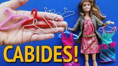Como fazer Cabides para Barbie e outras Bonecas!