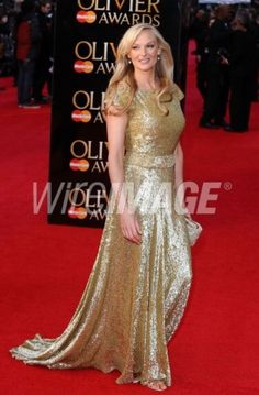 Katherine Kingsley in our floor length micro sequin backless dress with train.