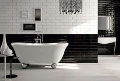 Come arredare un bagno in stile vintage - Bagno in bianco e nero