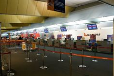 Jetstar New Zealand Wellington Airport domestic check-in counters. Image via google