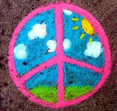 ➳➳➳☮American Hippie Art - Peace Sign