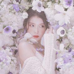 Iu Twitter, Fiestas Party, Cute Korean Girl, Bts Aesthetic Pictures, Iu Fashion, Kpop Girls, My Idol, Lilac, Flower Girl Dresses