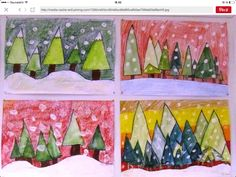 Farbmischübung Source by Christmas Art Projects, Winter Art Projects, Winter Crafts For Kids, School Art Projects, Holiday Crafts, Art For Kids, Kindergarten Art, Preschool Art, Classe D'art