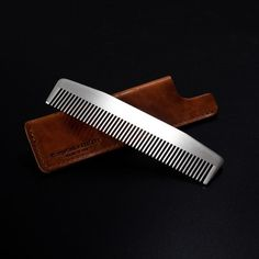 Chicago Comb Co. make the finest metal combs in the world, and the Matte Model No. 3 is no exception. This sleek, medium-fine tooth comb is made of laser-cut stainless steel and is gently hand-finished for comfortable daily use. The Matte has a special brushed metal, satin finish that sets it apart. Model No. 3 is satisfyingly heavy in your hand and absolutely sleek in your dopp kit. It even includes a famed Horween leather sheath, making this model the perfect holiday gift.