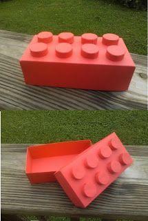 Es ist was ich tue: Lego Box - Valentine box - Kinder Valentines, Valentine Day Boxes, Valentines For Boys, My Funny Valentine, Valentines Day Party, Valentine Day Crafts, Lego Avengers, Pokemon Lego, Diy Lego