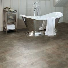 super tough and luxuriously stylish the aqua tile copper patina click vinyl flooring is bathroom