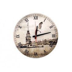 MDF Duvar Saati - Kız Kulesi ve Martı