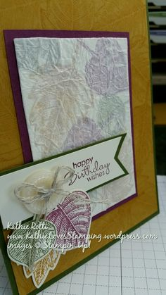 I REALLY like this card.  I learned the technique over at Linda Heller's Stamping School.  I kept, pretty much, the same dimensions that she used for her card, but I changed up the stamps and finis...