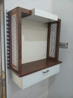 50 wall tv cabinet designs ideas for cozy family room 23 – Decoration Ideas Wooden Temple For Home, Temple Design For Home, Living Room Designs, Living Room Decor, Bedroom Designs, Living Area, Pinterest Profile, Mandir Design, Pooja Room Door Design