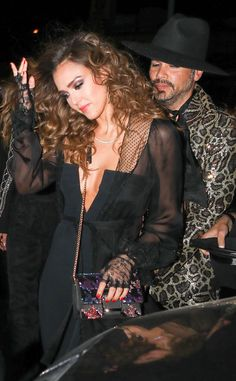 Jessica Alba & Cash Warren from The Big Picture: Today's Hot Photos  Happy Birthday Jessica! The actress celebrates at the Peppermint Club with a Prince themed party.