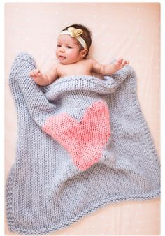 Great idea for a  heart for a baby blanket