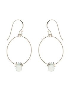 Capri Teardrop Semi Precious Earrings | Silver | Accessorize