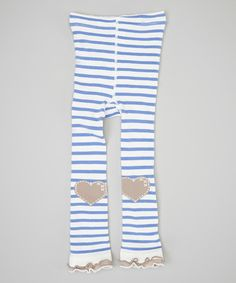 Love this Blue Stripe Heart Footless Tights - Infant, Toddler & Girls by Naartjie Kids on #zulily! #zulilyfinds