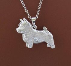 Your place to buy and sell all things handmade Norwich Terrier, Dog Jewelry, What Is It Called, Gift List, Dog Breeds, Pendants, Chain, Sterling Silver, Study