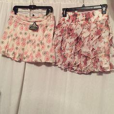 "Skirt Bundle Red blue bubble skirt ""NWT"" Angie ... Flower print ""NWOT"" Rachel $Chloe Angie- Rachel& Chloe Skirts"