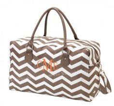 Overnight bag by PlumPrettyMonograms on Etsy, $30.00