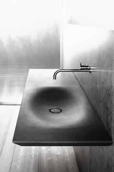 beautiful form. #moderndesign #modernsink #modernform #architecture #concrete #design